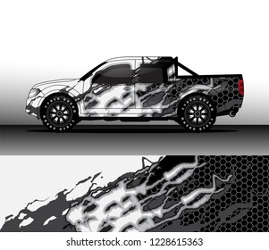 truck decal graphic wrap vector, background abstract fire