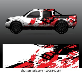 Truck decal graphic wrap vector, abstract background