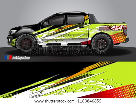 Truck Decal Wrap Design Vector Abstract Stock Vector Royalty Free