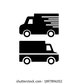 Truck delivery icon vector flat design