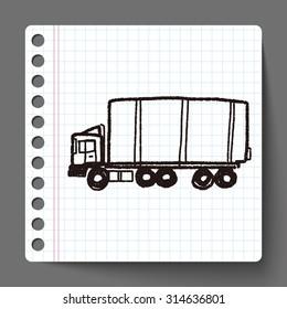 truck doodle