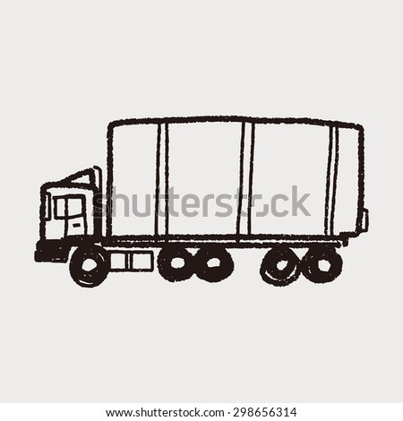 Truck Doodle Stock Vector (Royalty Free) 298656314