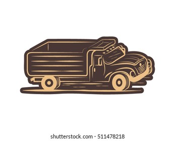 Truck drawing, vector