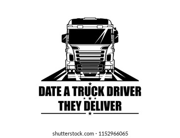 Truck Driver Funny Quote - Messages - Sticker - Ready for Print - Decal