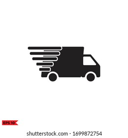 truck fast icon vector design illustration