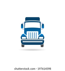 Truck front image. Vector icon