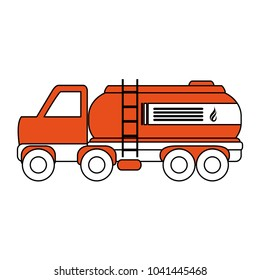 Truck with gas tank