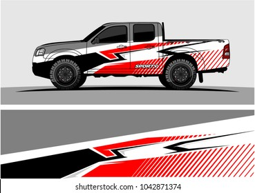 truck graphic background kit vector