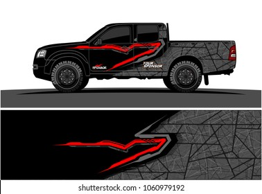 truck Graphic kit. Abstract graphic for car, boat and vehicle wrap