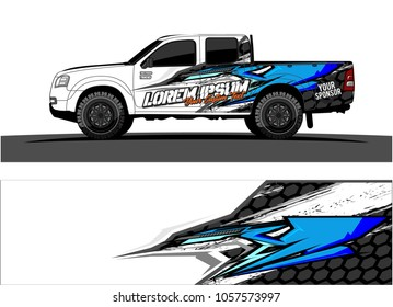 Truck Graphic kit. abstract  Vector graphic for vehicle and boat.