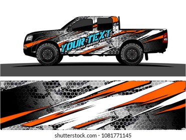 truck graphic vector. abstract grunge background design for vehicle vinyl wrap and car branding