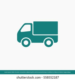 truck icon, icon, delivery. One of set web icons