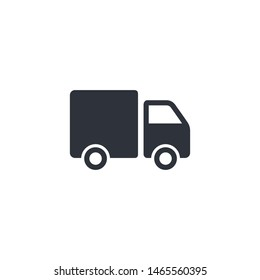 truck icon delivery symbol logo template
