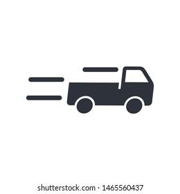 truck icon delivery symbol logo template