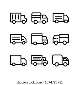 truck icon or logo isolated sign symbol vector illustration - Collection of high quality black style vector icons