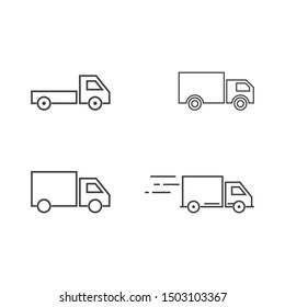 Truck icon set ilustration vector template