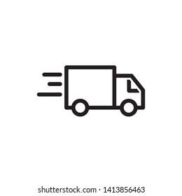 Truck icon template design trendy
