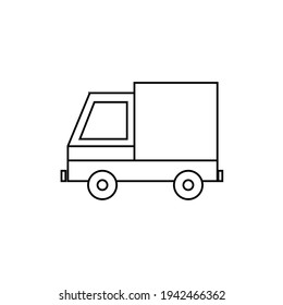 Truck Icon in trendy flat style isolated on grey background. Delivery truck symbol for your web site design, logo, app, UI. Vector illustration, EPS10.