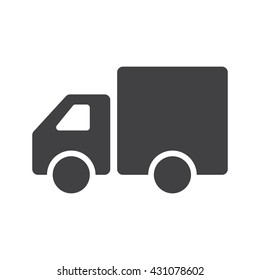 Truck icon vector. Delivery van, service concept, Minimalistic sign isolated on white background. Trendy Flat style for graphic design, Web site, UI. EPS10