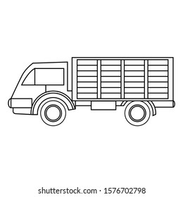 a truck icon vector flat illustration. a lorry