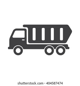 Truck icon Vector Illustration on the white background.