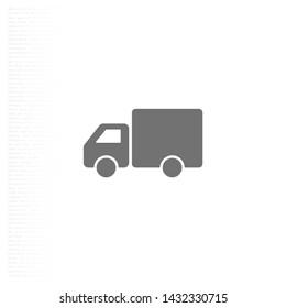 Truck icon Vector icon . Lorem Ipsum Illustration design