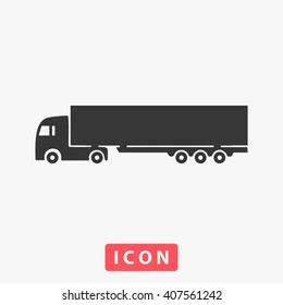 truck Icon Vector. Simple flat symbol. Perfect Black pictogram illustration on white background.