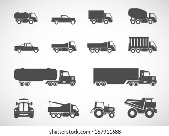 Truck icons.vector