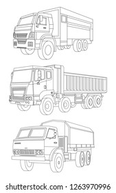 Truck illustration, Delivery car, Shipping transport, Service car, Truck icon, Freight transport, Rent car