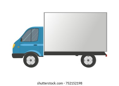 Truck isolated on white. Cargo delivery.