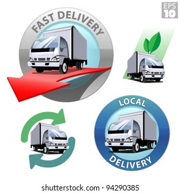 Truck for local delivery, fast delivery, recycle and eco friendly transportation