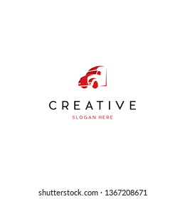 Truck Logistic Creative Vector Logo Design