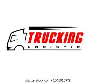 Truck logistic logo vector