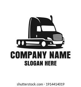 Truck Logo Design Template Inspiration, Vector Illustration, Vehicle Logo.