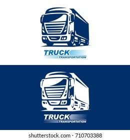 Truck logo illustration on white background
