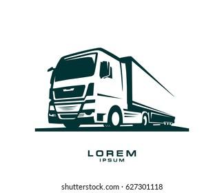 truck logo vector on white background 2