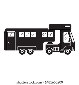 Truck motorhome icon. Simple illustration of truck motorhome vector icon for web design isolated on white background