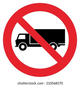 Truck prohibition sign