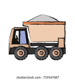 truck rocker  vector illustration