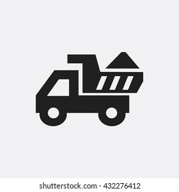 Truck with sand Icon