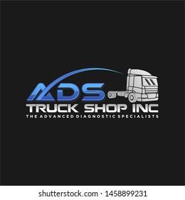 Truck shop logo modern design