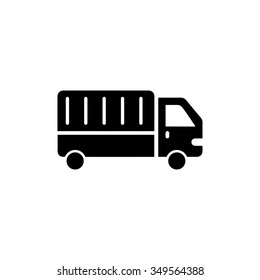 truck sign icon. Cargo van button. Delivery symbol