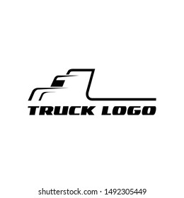 Truck silhouette abstract logo template vector illustration