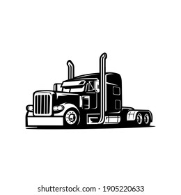 Truck silhouette, semi truck images, semi trailer vector image illustration