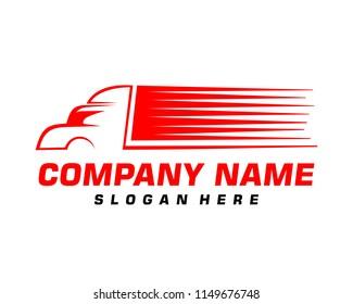 Truck silhouette symbol logo template
