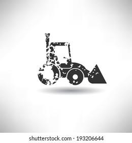 Truck symbol,grunge vector