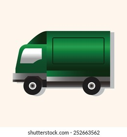 truck theme elements vector,eps