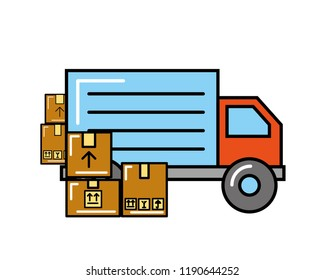 truck transport boxes online shopping logistic