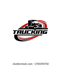 Truck Trucking Company Transportation Logo Template