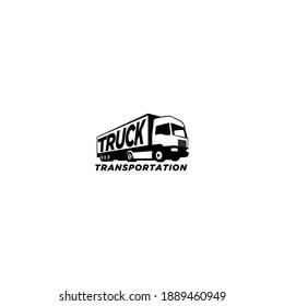 truck vector icon logo design template